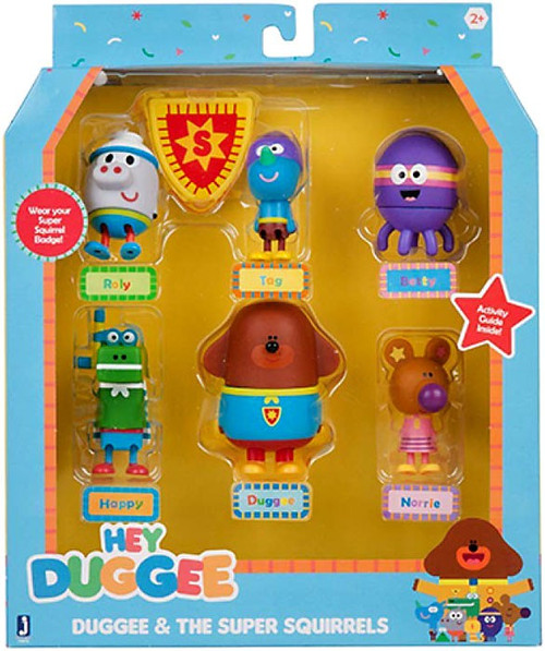 Hey Duggee Duggee & The Squirrels Figure 6-Pack