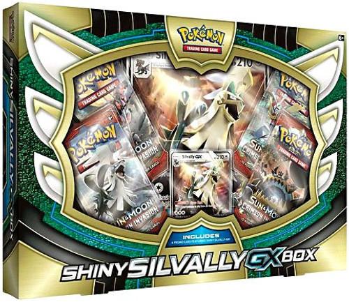 Pokemon Trading Card Game Sun & Moon Crimson Invasion Shiny Silvally-GX Box [4 Booster Packs, Promo Card & Oversize Card]