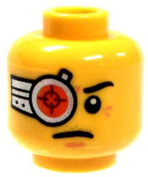 Dual-Sided Yellow Male Cyborg with Breathing Apparatus Minifigure Head [Loose]