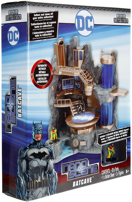 DC Nano Metalfigs Nano Scene Batcave Playset