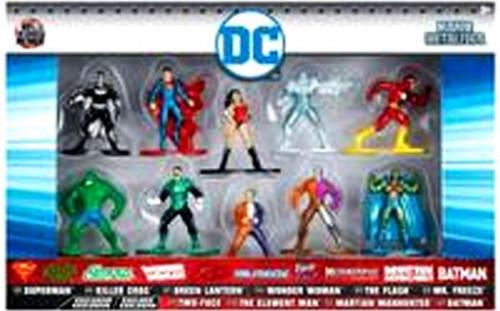 DC Nano Metalfigs Superman, Killer Croc, Green Lantern, Wonder Woman, The Flash, Mr. Freeze, Two-Face, The Element Man, Martian Manhunter & Batman 1.5-Inch Diecast Figure 10-Pack