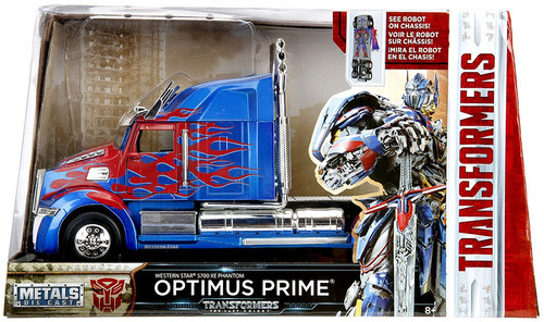 Transformers The Last Knight Metals Die Cast Optimus Prime 1:24 Die Cast Vehicle [1:24]