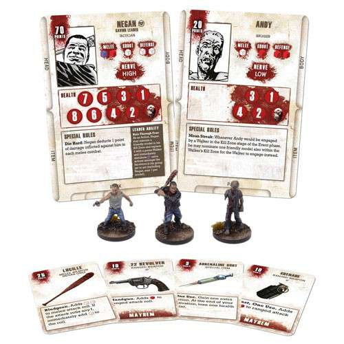 The Walking Dead Walking Dead All Out War Miniature Game Negan Game Booster