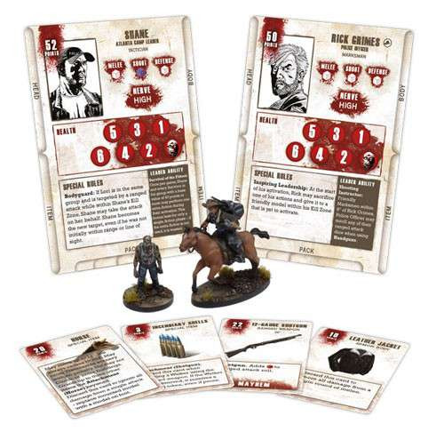 The Walking Dead Walking Dead All Out War Miniature Game Rick on Horse Game Booster