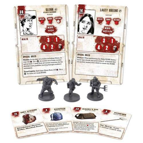 The Walking Dead Walking Dead All Out War Miniature Game Glenn Game Booster