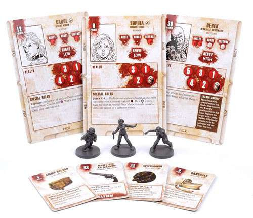 The Walking Dead Walking Dead All Out War Miniature Game Carol Game Booster
