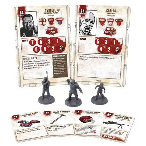 The Walking Dead Walking Dead All Out War Miniature Game Tyreese Game Booster
