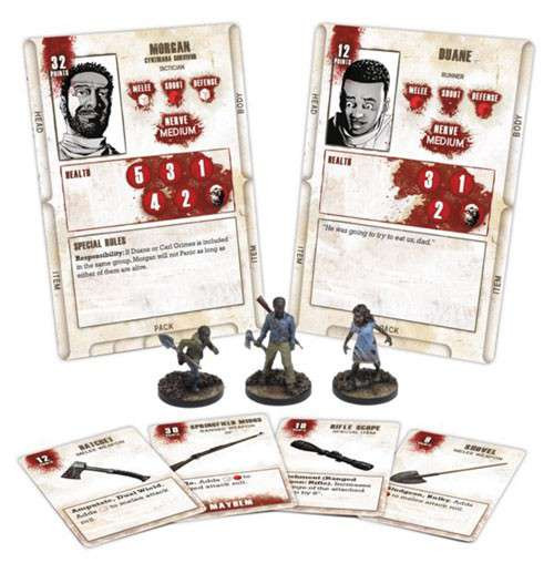 The Walking Dead Walking Dead All Out War Miniature Game Morgan Game Booster