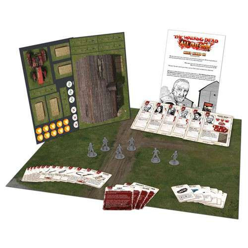 The Walking Dead Walking Dead All Out War Miniature Game Miles Behind Us Expansion Set