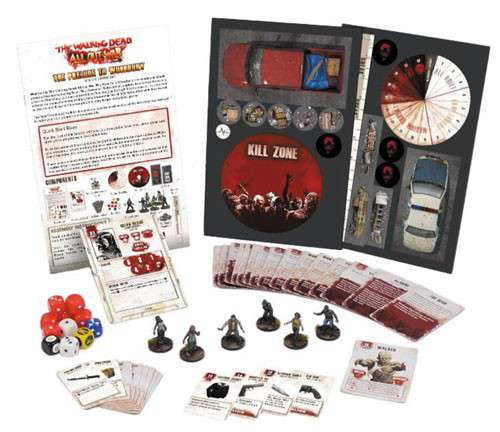The Walking Dead Walking Dead All Out War Miniature Game Prelude to Woodbury Solo Starter Set