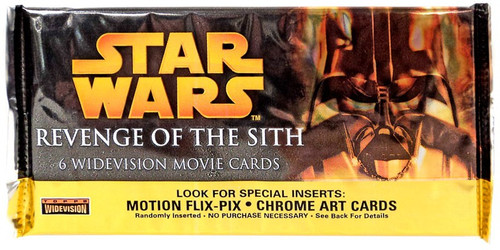 Star Wars Revenge of the Sith Movie WIDEVISION Trading Card Pack