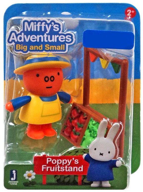 Miffy's Adventures Big & Small Poppy's Fruitstand Exclusive Figure