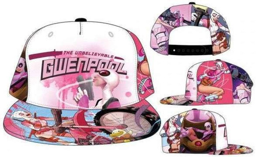 Marvel Gwenpool the Unbelievable Sublimated Snapback Cap Apparel