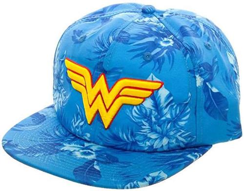 DC Wonder Woman Floral Slouch Snapback Cap Apparel