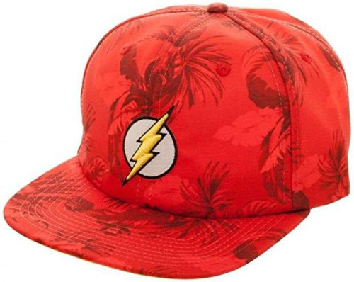 DC The Flash Floral Slouch Snapback Cap Apparel