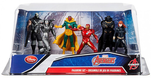 Disney Marvel Avengers Exclusive 6-Piece PVC Figure Play Set [Iron Man, Black Widow, Black Panther, Vision, War Machine & Crossbones]