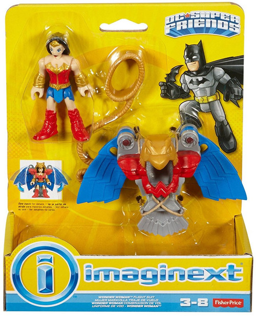 Fisher Price DC Super Friends Imaginext Wonder Woman Flight Suit 3-Inch Figure Set