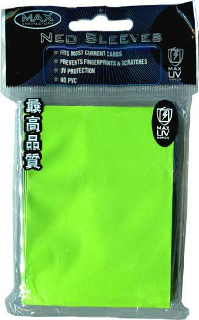 Card Supplies Standard Flat Lime Green Card Sleeves [50 Count]