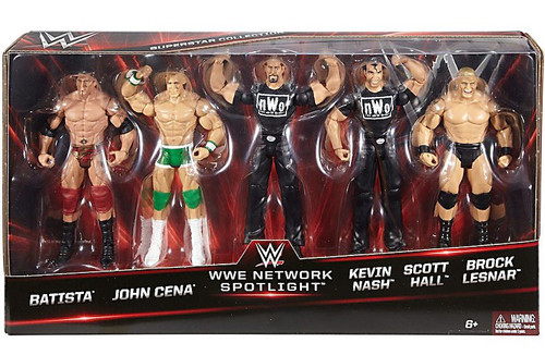 WWE Wrestling Network Spotlight Batista, Cena, Nash, Hall & Lesnar Exclusive Action Figure 5-Pack