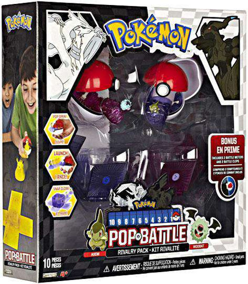 Pokemon Black & White Series 2 Pop n' Battle Axew vs. Woobat Rivalry Pack [Damaged Package]