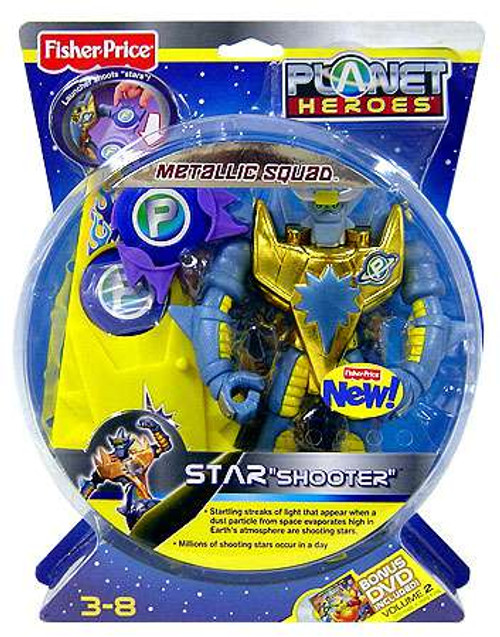 Fisher Price Planet Heroes Metallic Squad Star Deluxe Action Figure [Shooter, Damaged Package]