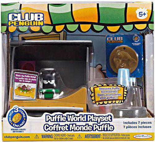 Club Penguin Puffle World Skate Park 1-Inch Playset [Damaged Package]