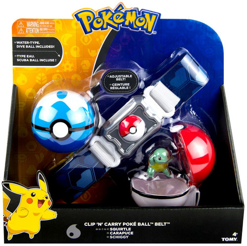 Pokemon Squirtle & Dive Ball Clip 'n' Carry Poke Ball Belt