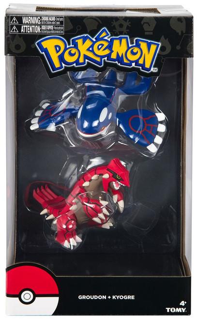 Pokemon Groudon & Kyogre 4-Inch Figure 2 Pack