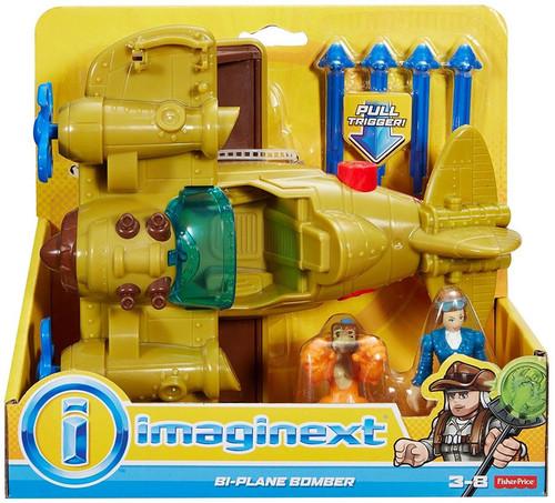 Fisher Price Imaginext Bi-Plane Bomber Playset