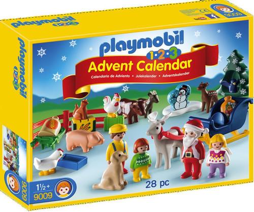 Playmobil Advent Calendar 1.2.3 Christmas on the Farm Set #9009
