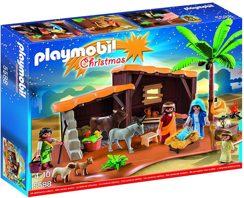 Playmobil Christmas Nativity Stable with Manger Set #5588