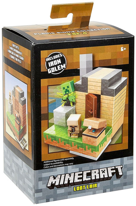 Minecraft Plains Biome Collection Loot Lair Mini Figure Environment Playset #3 of 4 [Includes Iron Golem]