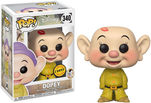 Funko Snow White POP! Disney Dopey Vinyl Figure #340 [No Hat, Lipstick Chase Version]