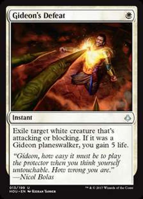 MtG Hour of Devastation Uncommon Foil Gideon's Defeat #13