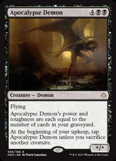MtG Hour of Devastation Rare Foil Apocalypse Demon #58