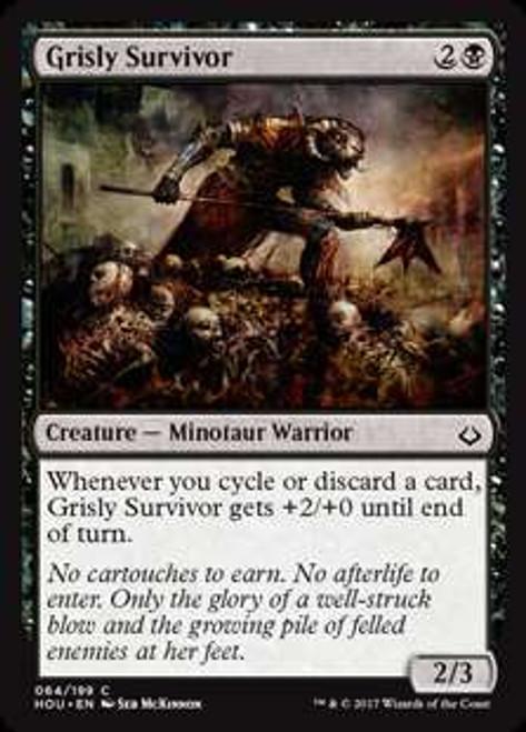 MtG Hour of Devastation Common Foil Grisly Survivor #64