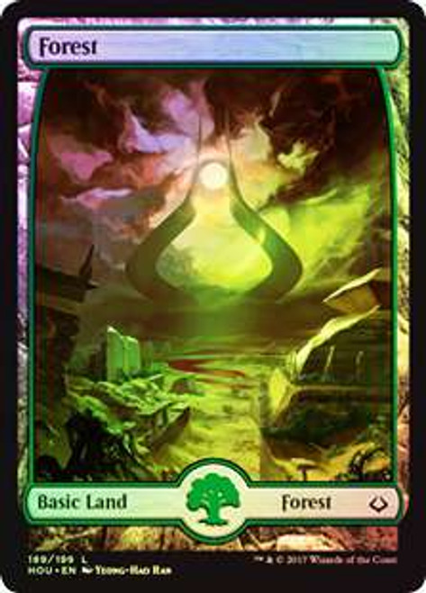 MtG Hour of Devastation Land Forest #189 [Full-Art Foil]