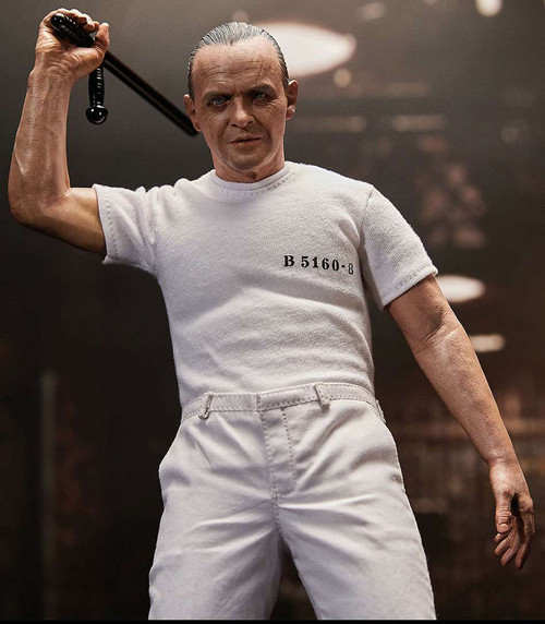 Silence of the Lambs Hannibal Lecter Collectible Figure [White Prison Uniform]