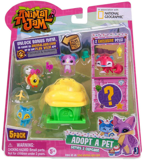 Animal Jam Series 3 Cupcake Mini Figure 5-Pack #2 [Yellow]