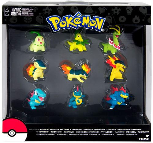 Pokemon Evolution Chikorita, Cyndaquil & Totodile Figure 9-Pack