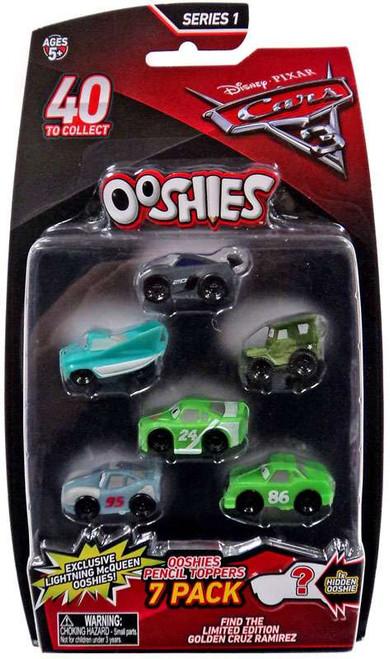 Disney / Pixar Cars 3 Ooshies Series 1 Jackson Storm, Flo, Sarge, Brick Yardley, Primer Lightning McQueen & Chick Hicks Pencil Topper 7-Pack