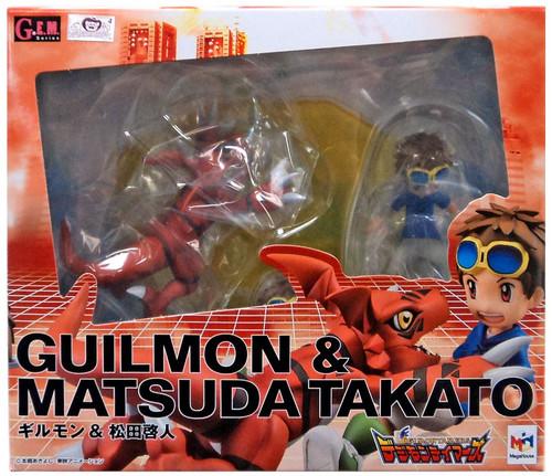 Digimon GEM Series Guilmon & Matsuda Takato PVC Figure