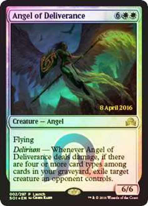 MtG Prerelease & Release Promo Angel of Deliverance [Shadows Over Innistrad Launch]