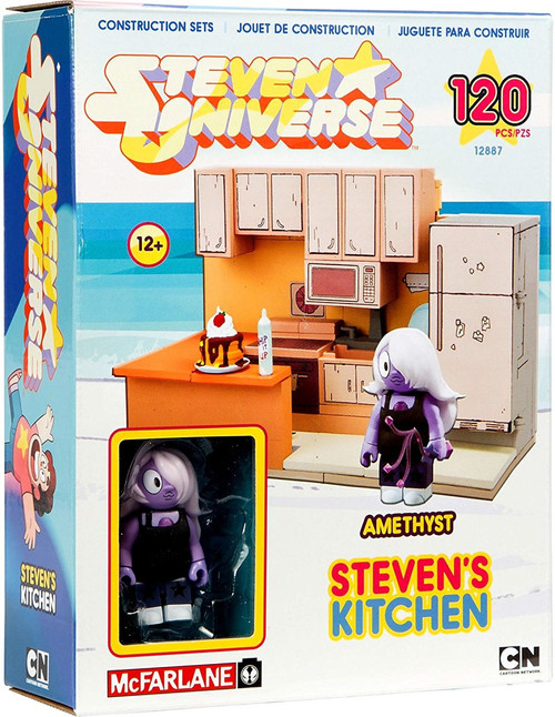 McFarlane Toys Steven Universe Amethyst & Steven's Kitchen Small Construction Set
