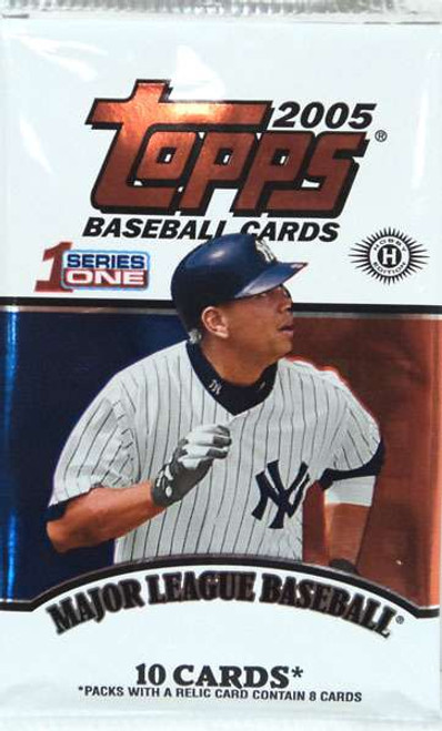 MLB Topps 2005 Baseball Series 1 Trading Card HOBBY Pack