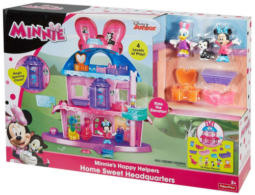 Fisher Price Disney Minnie Mouse Minnie's Happy Helpers Home Sweet Headquarters Playset