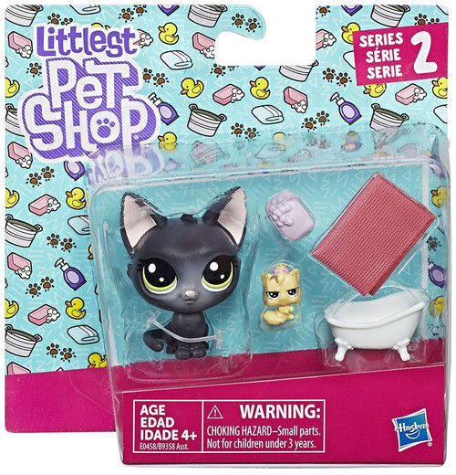 Littlest Pet Shop 2017 Pet Pairs Jade Catkin & Kittylina Scrapper Figure 2-Pack