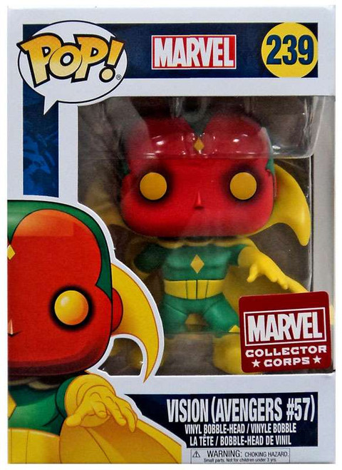 Funko POP! Marvel Vision (Avengers #57) Exclusive Vinyl Bobble Head #239 [First Appearance]