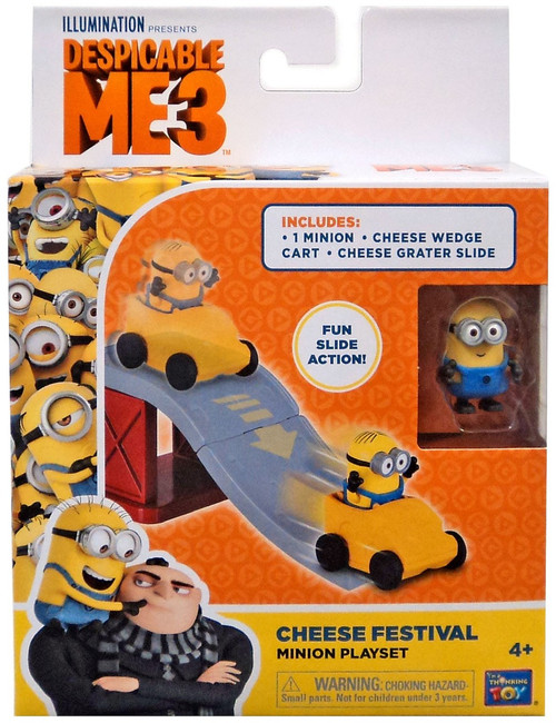 Despicable Me Minions Movie Cheese Festival 2-Inch Micro Playset