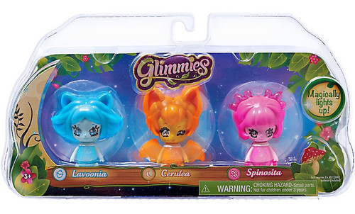 Glimmies Lavoonia, Cerulea & Spinosita Figure 3-Pack